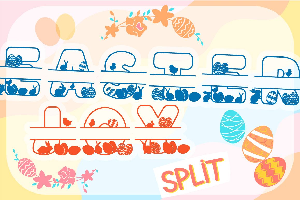 The Easter Joy Split - A Playful Easter Craft Font example image 1