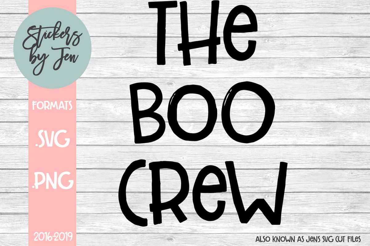 The Boo Crew SVG Cut File example image 1