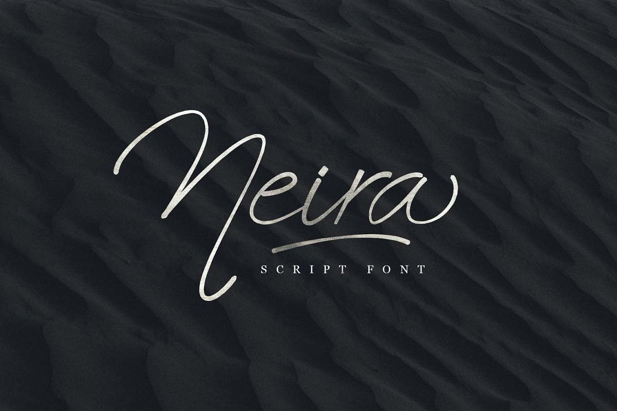 Neira script font example image 1