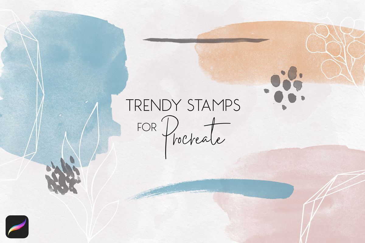 Trendy Stamps for Procreate example image 1
