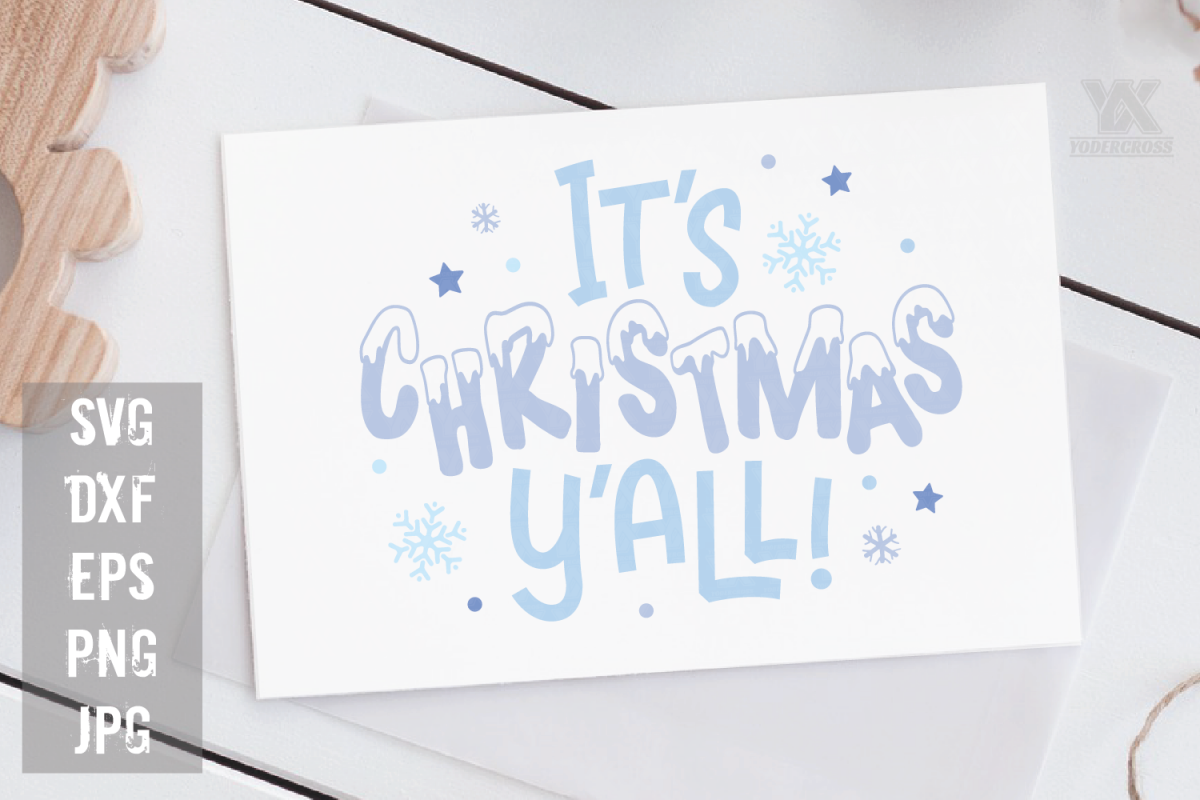 It's Christmas Y'all SVG example image 1