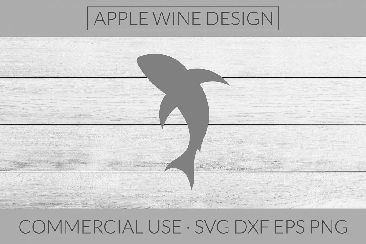 Shark Silhouette SVG DXF PNG EPS Cutting File example image 1