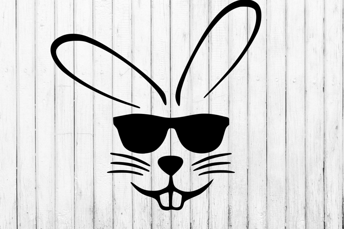 Easter Bunny With Sunglasses Svg Clipart Example Image