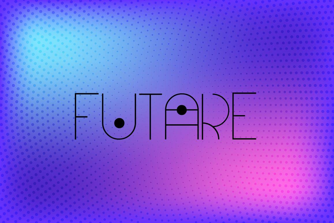 Futare - Thin Futuristic Capital Font example image 1