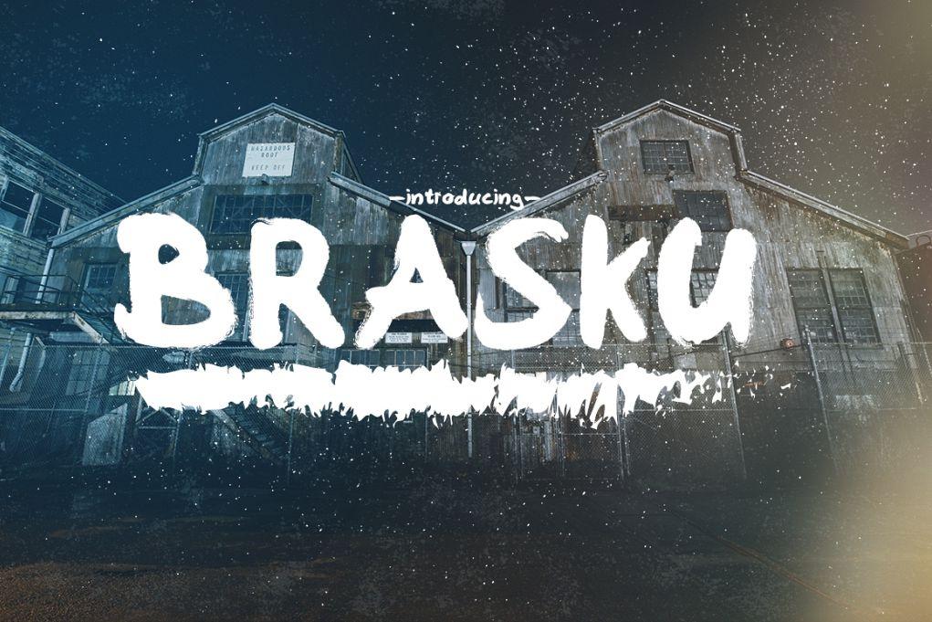 Brasku Font + Extras example image 1