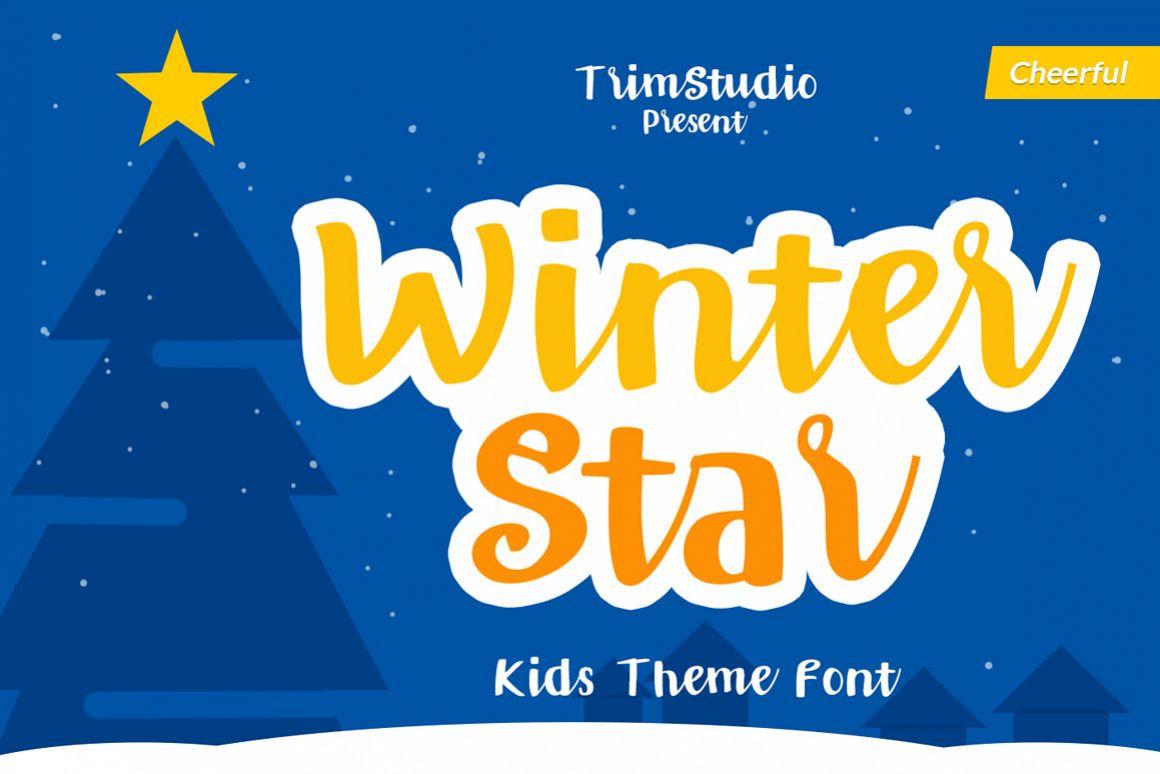 Winter Star - Playful Handwritten Font example image 1
