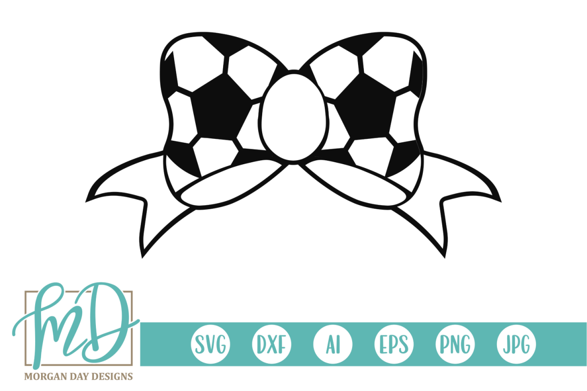 Soccer Bow SVG, DXF, AI, EPS, PNG, JPEG example image 1