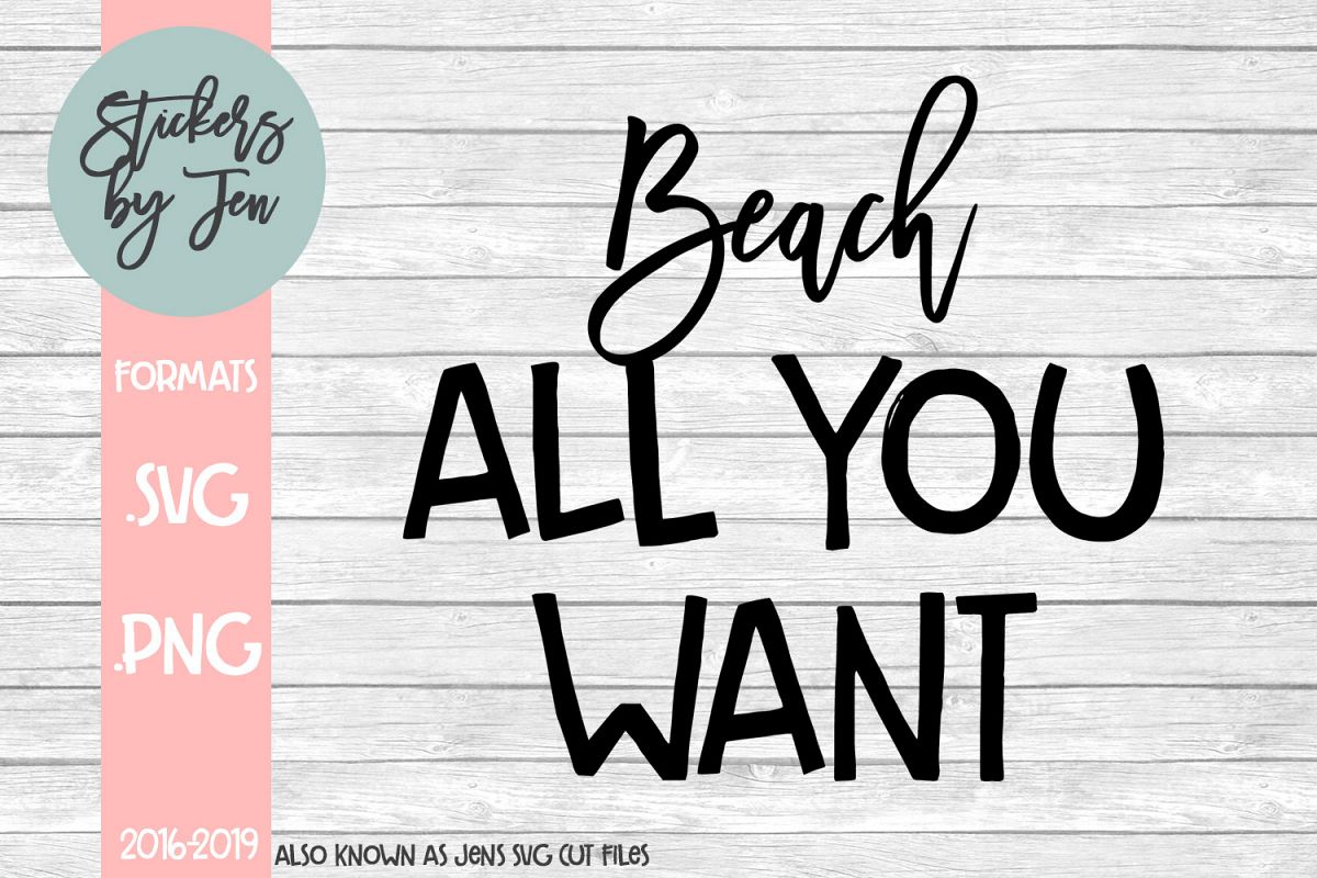 Beach All You Want SVG Cut File example image 1