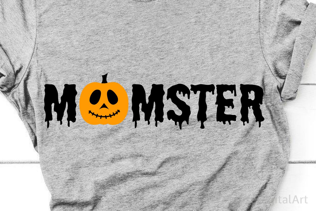 Momster Svg, Mom Halloween Svg, Mom Halloween Shirt Svg example image 1