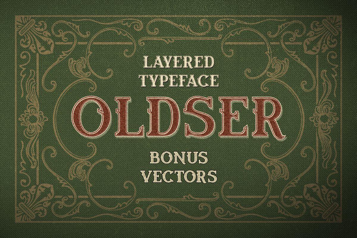 Oldser Typeface + Bonus Vectors example image 1
