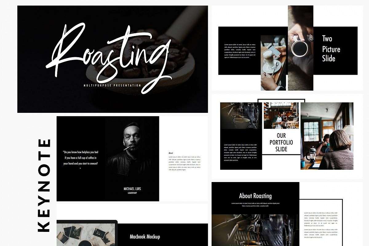 Roasting - Creative Keynote Template example image 1