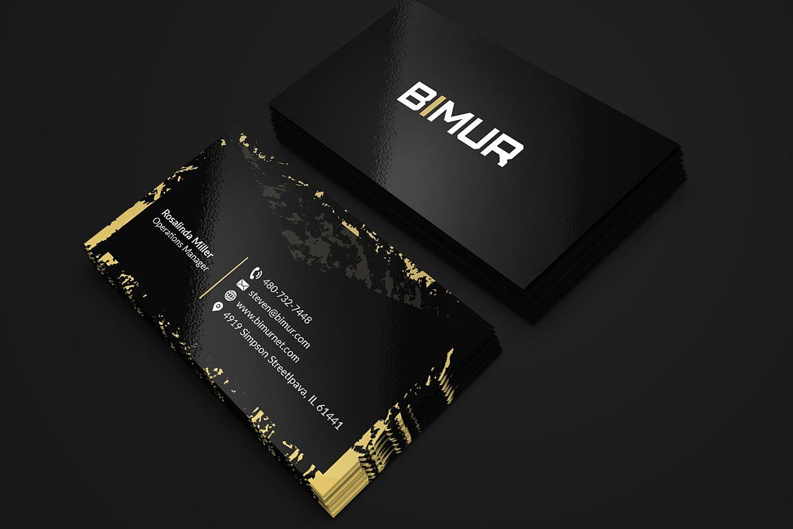 Black and gold business card 2 by fancy design bundles black and gold business card 2 example image colourmoves
