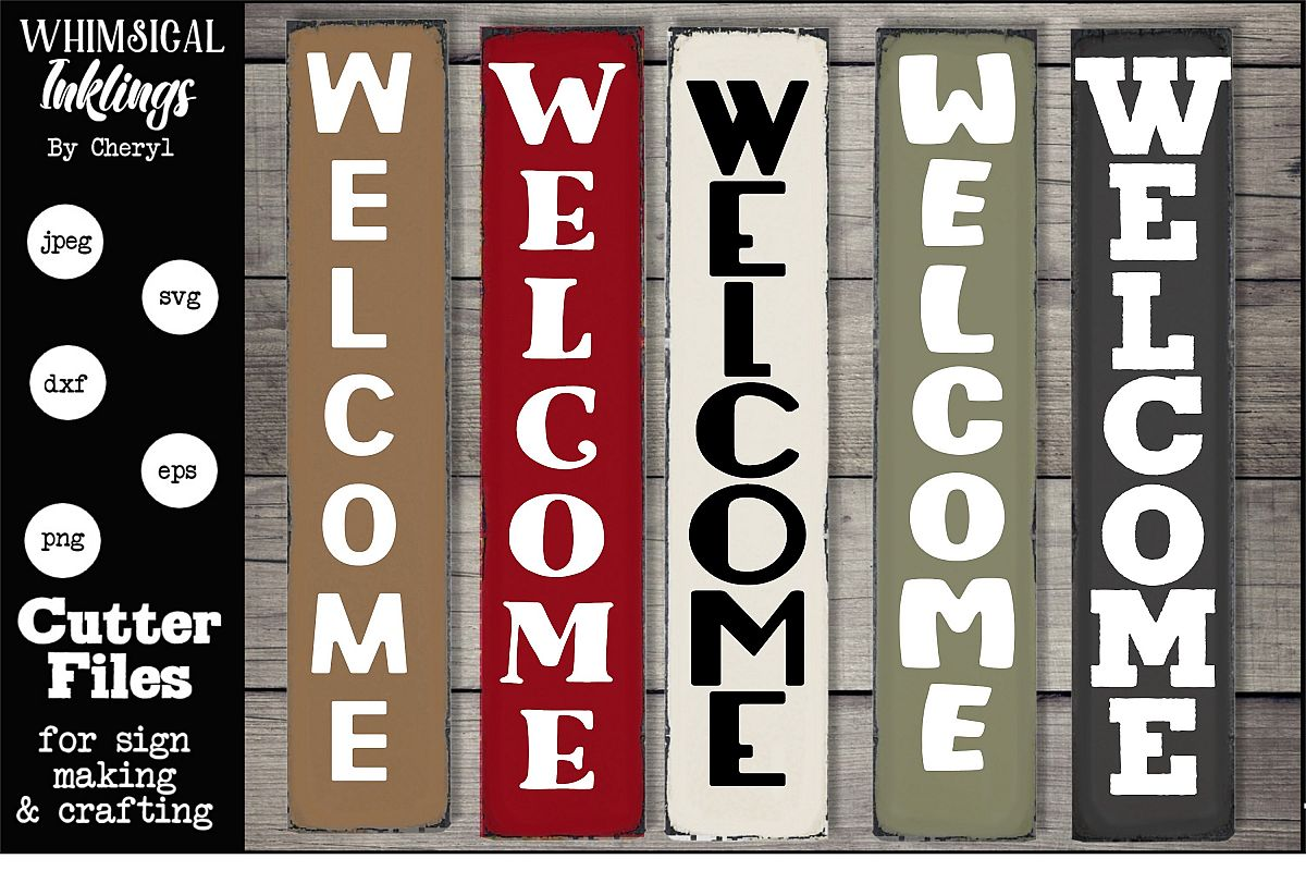 Vertical Welcome SVG Collection example image 1