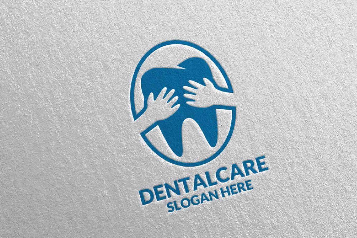 dental logo dentist stomatology logo design 3
