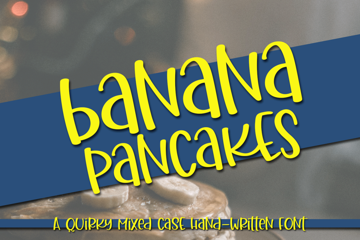 Banana Pancakes - A Quirky Mixed Case Handwritten Font example image 1