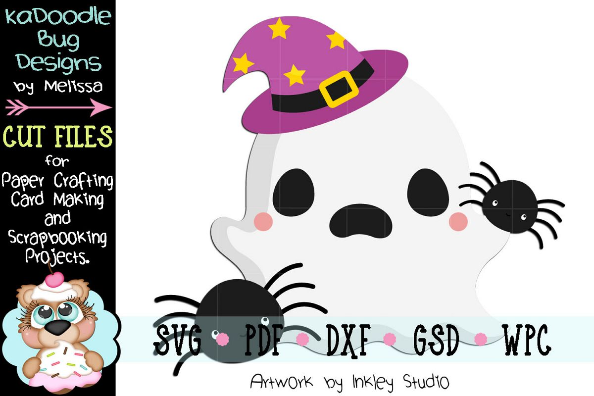 Creepy Crawlie Ghost Cut File - SVG PDF DXF GSD WPC example image 1