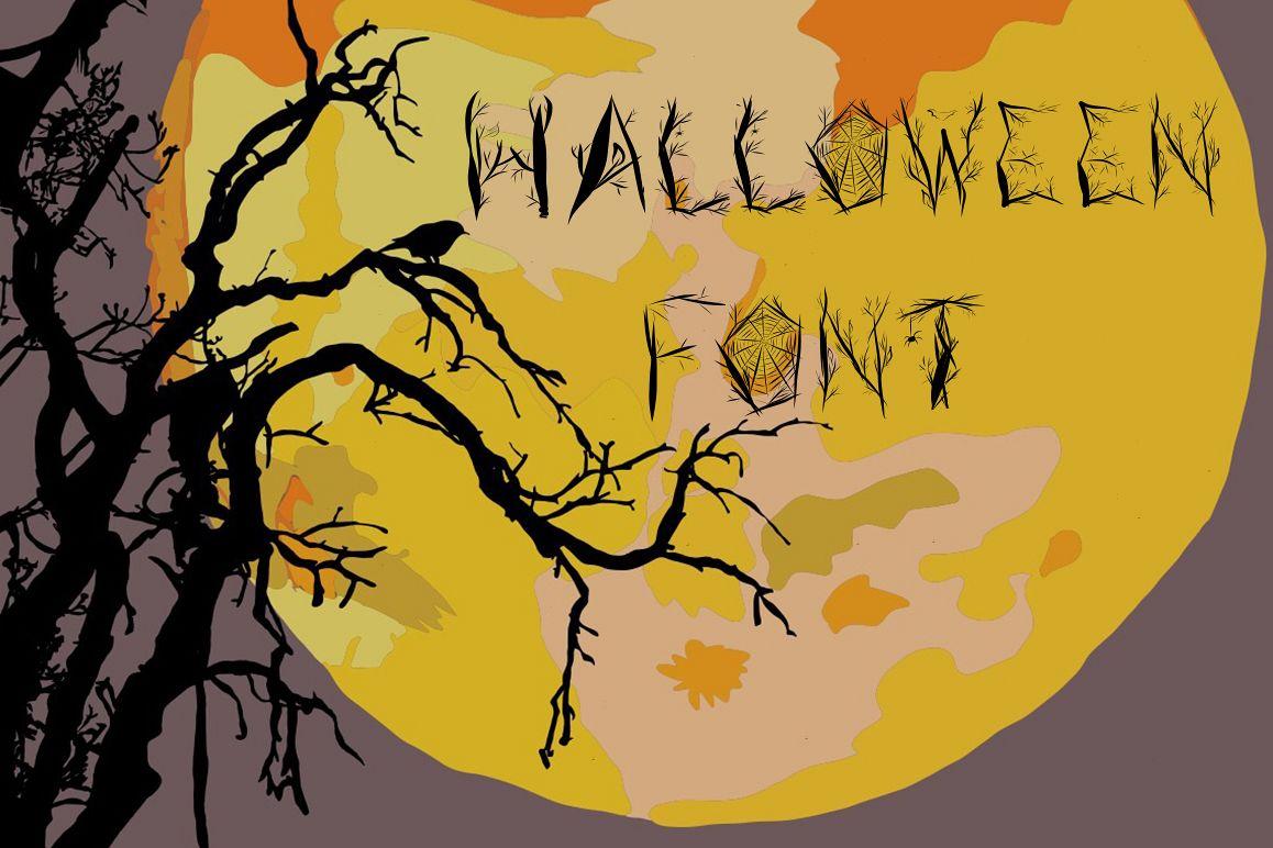Halloween woody alphabet example image 1