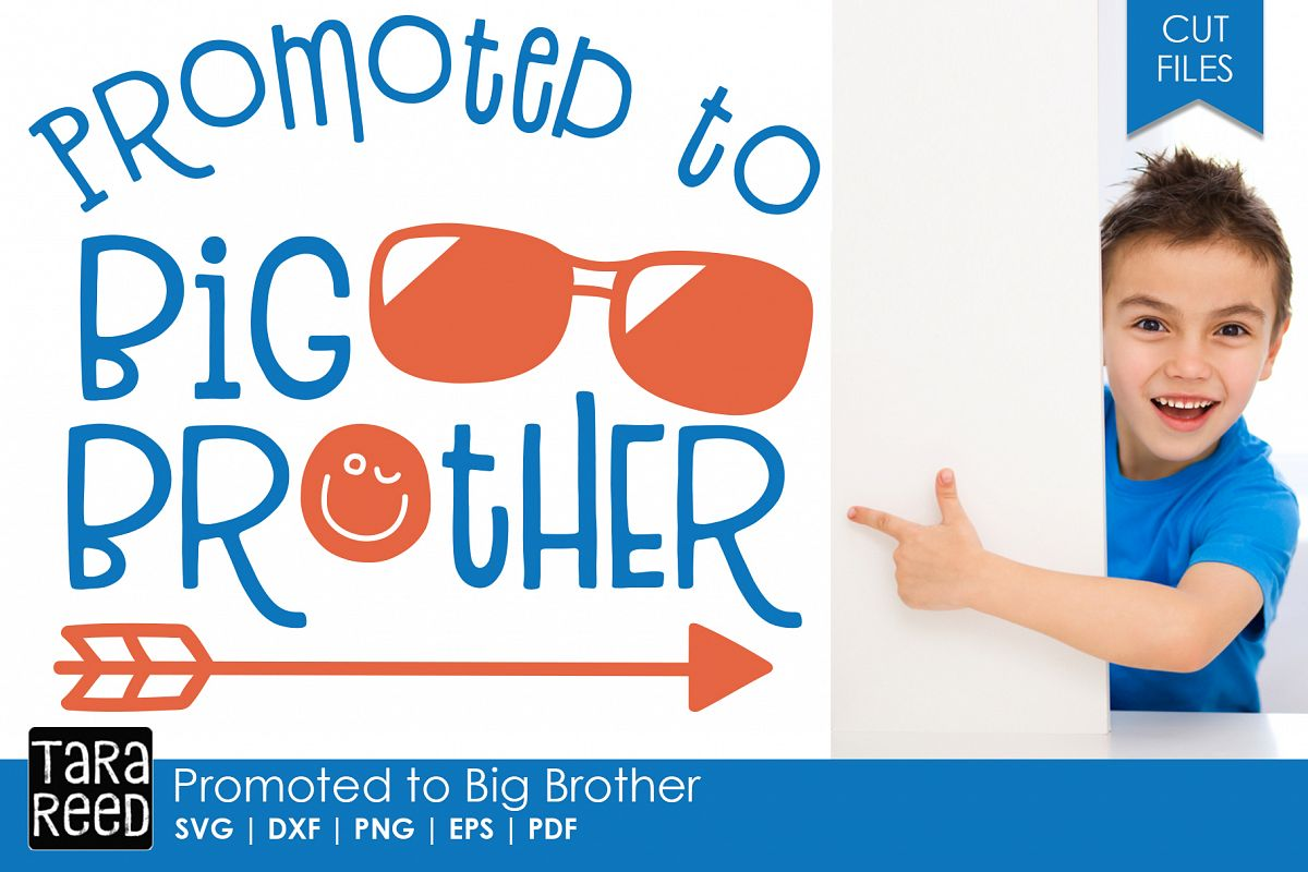Promoted to Big Brother - Family SVG and Cut Files example image 1