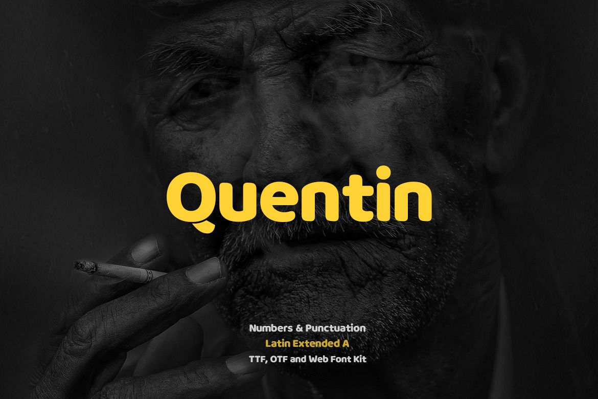 Quentin Pro Typeface & Webfonts example image 1