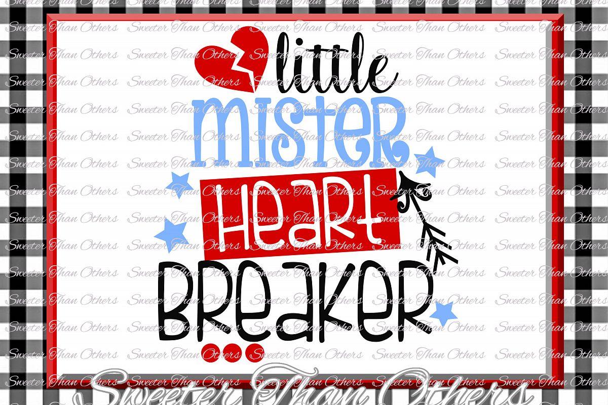 Little Mister Heart Breaker Svg Silhouette Valentines svg example image 1
