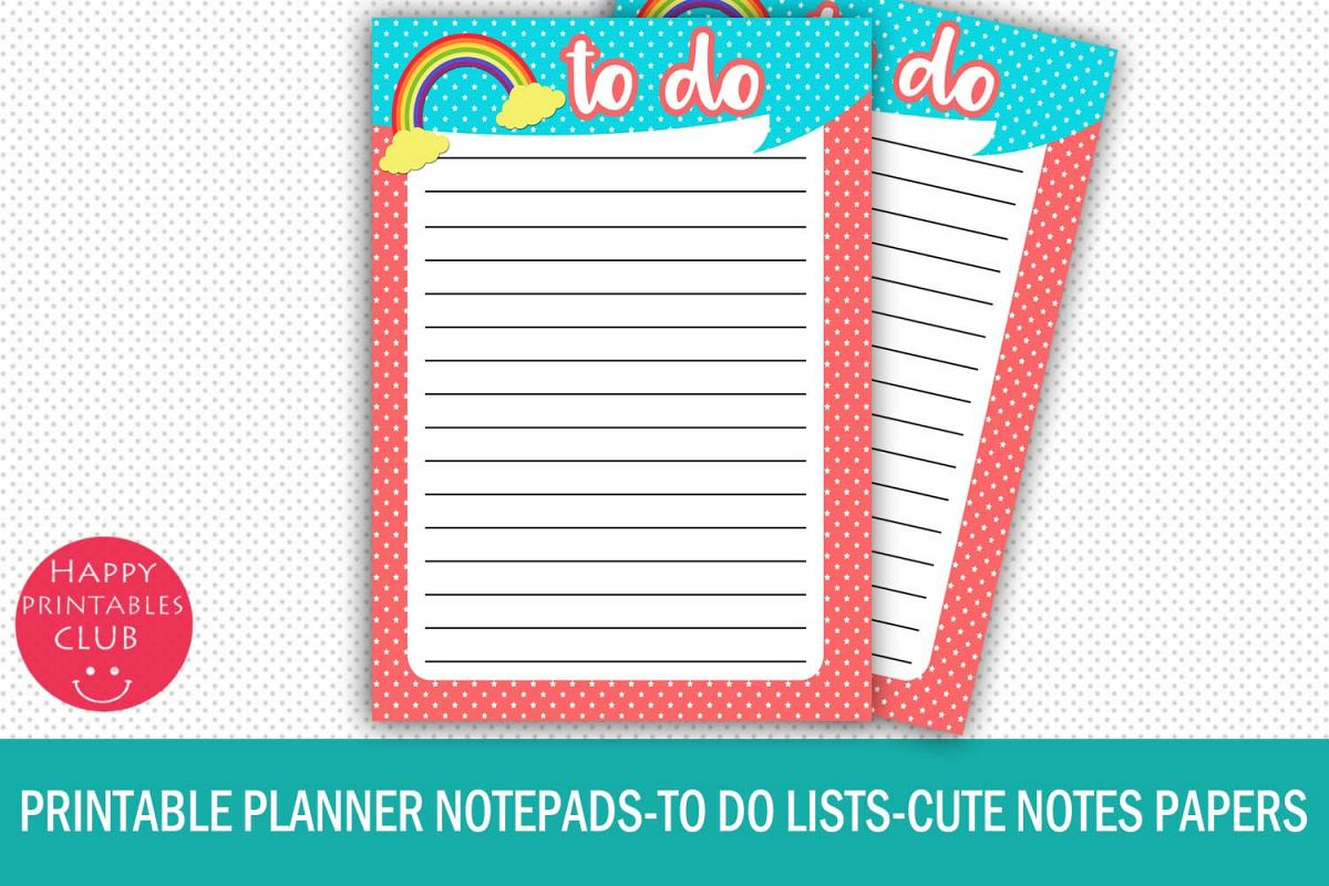 photo regarding Printable Notepads known as Printable Planner Notepads-In the direction of Do Lists-Notes Papers-Sheets