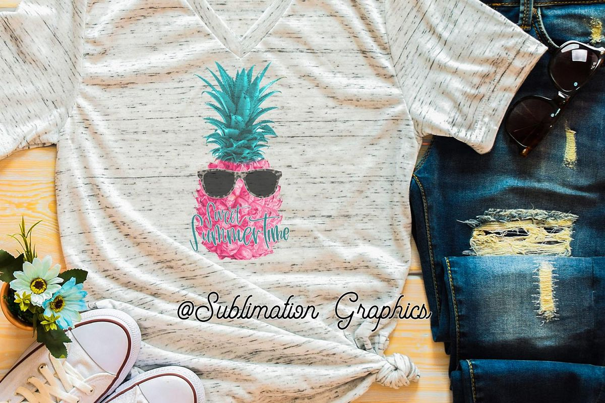 Sweet Summertime Sublimation PNG example image 1