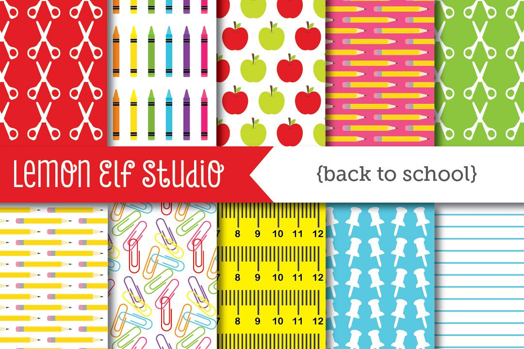 Back To School-Digital Paper (LES.DP17) example image 1