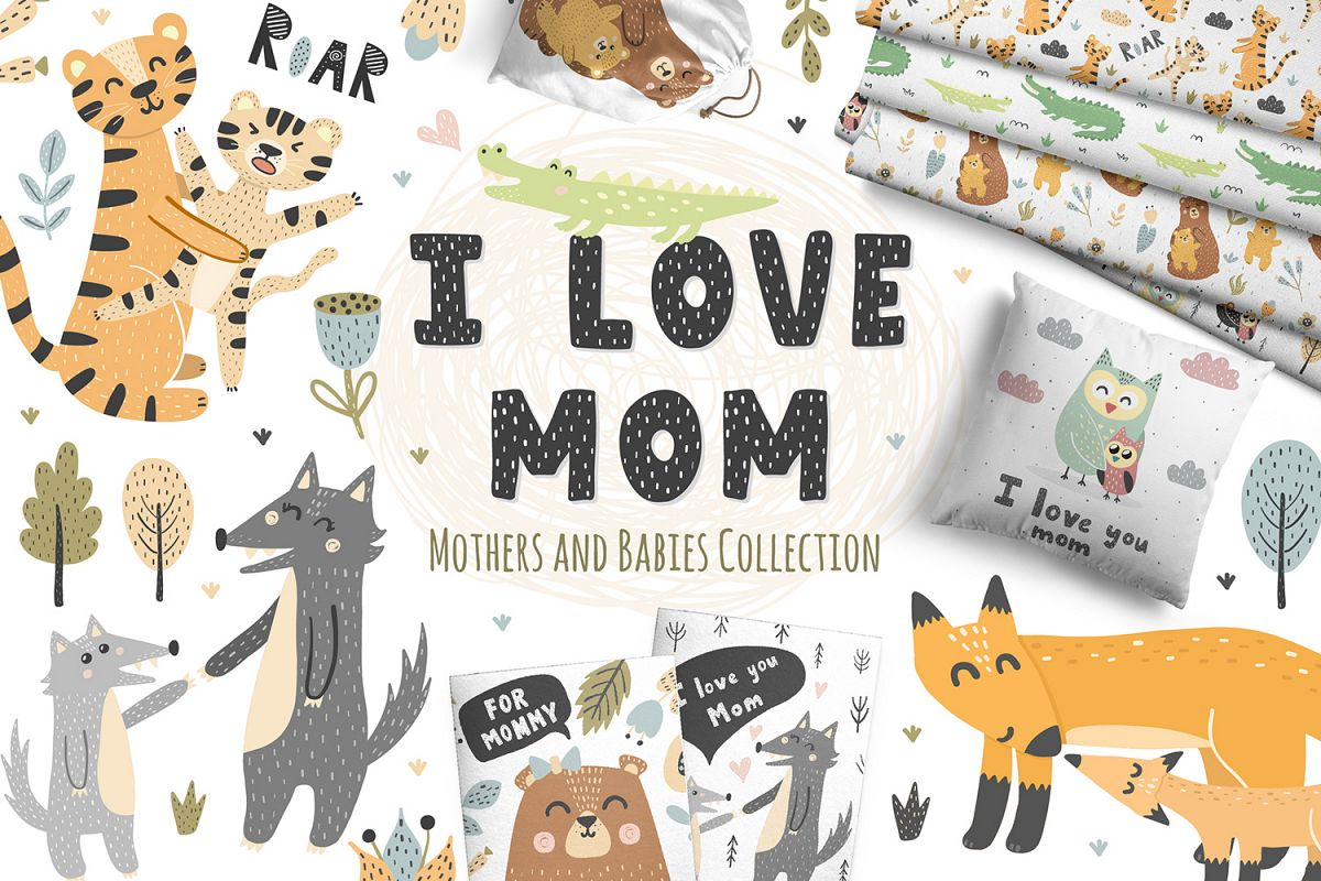 I Love Mom Collection example image 1