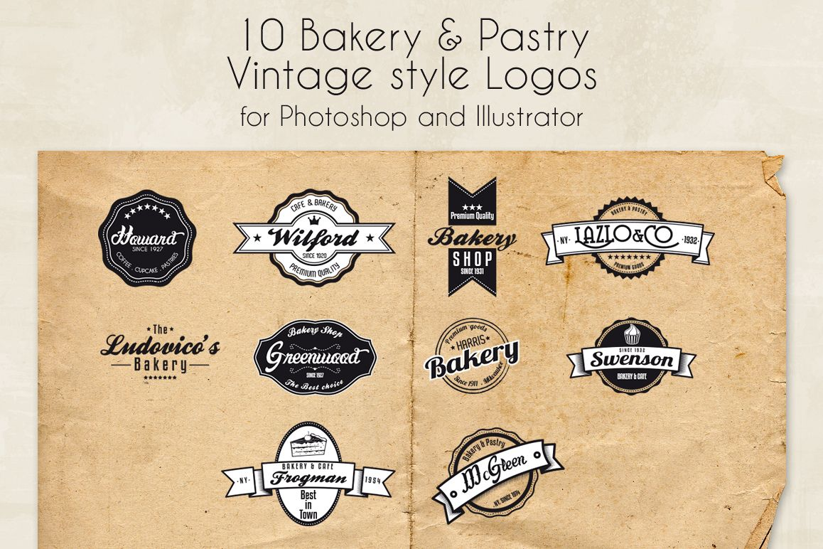 Bakery & Pastry Vintage logo example image 1