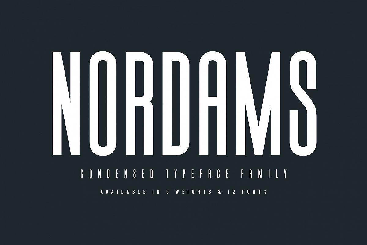 NORDAMS - Sans Serif example image