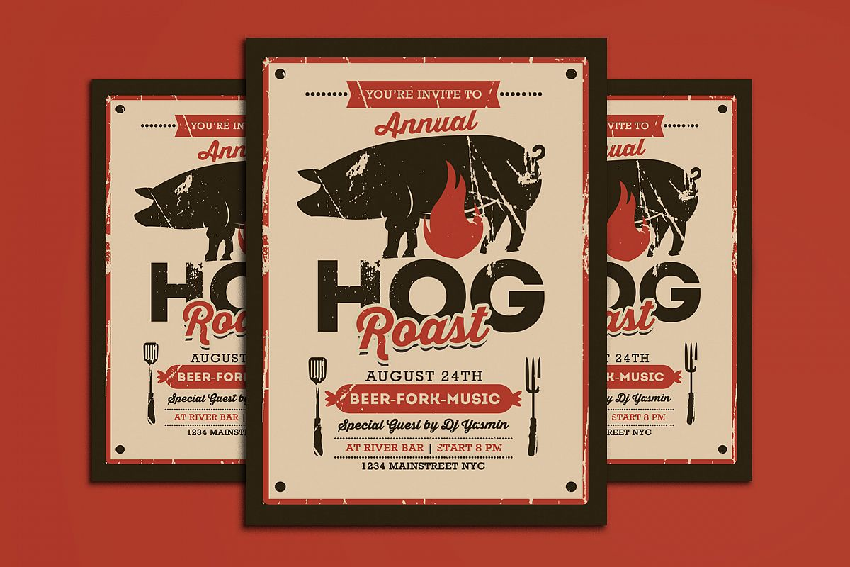 Pig Roast Event Flyer example image 1