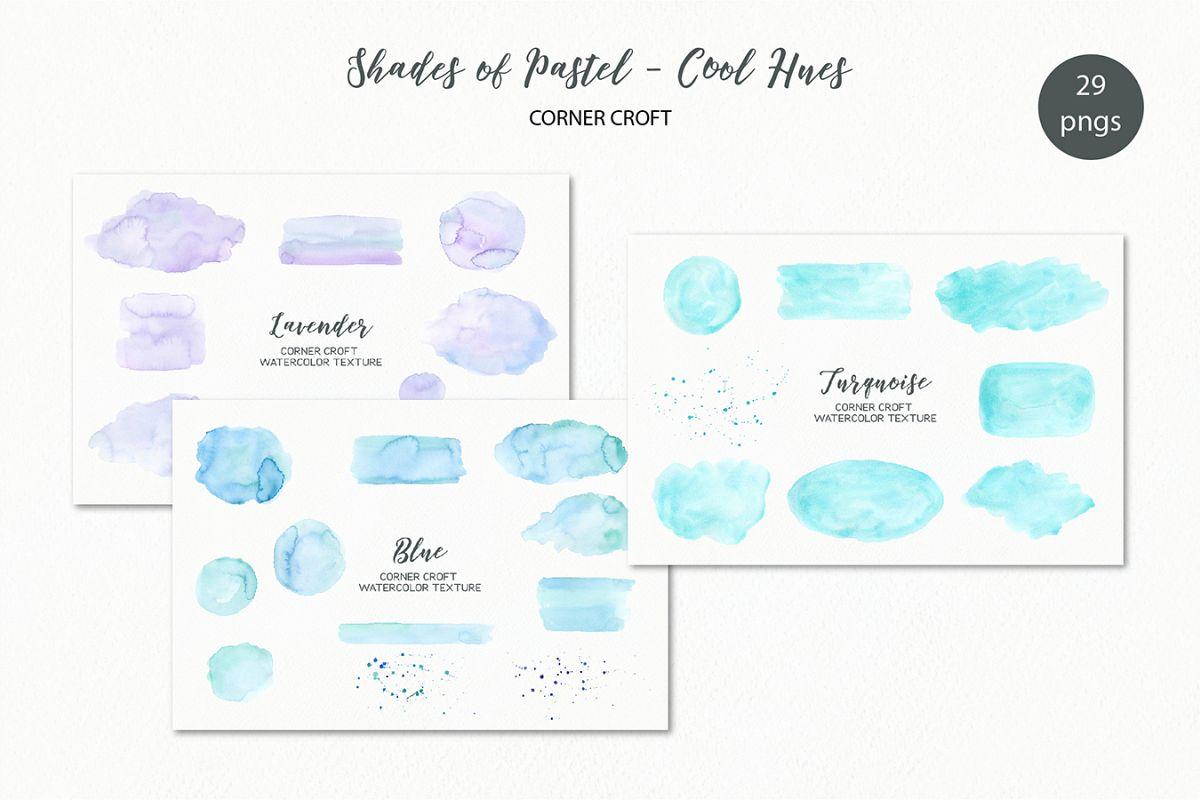 Shades of Pastel Cool Hues Watercolor Texture example image 1