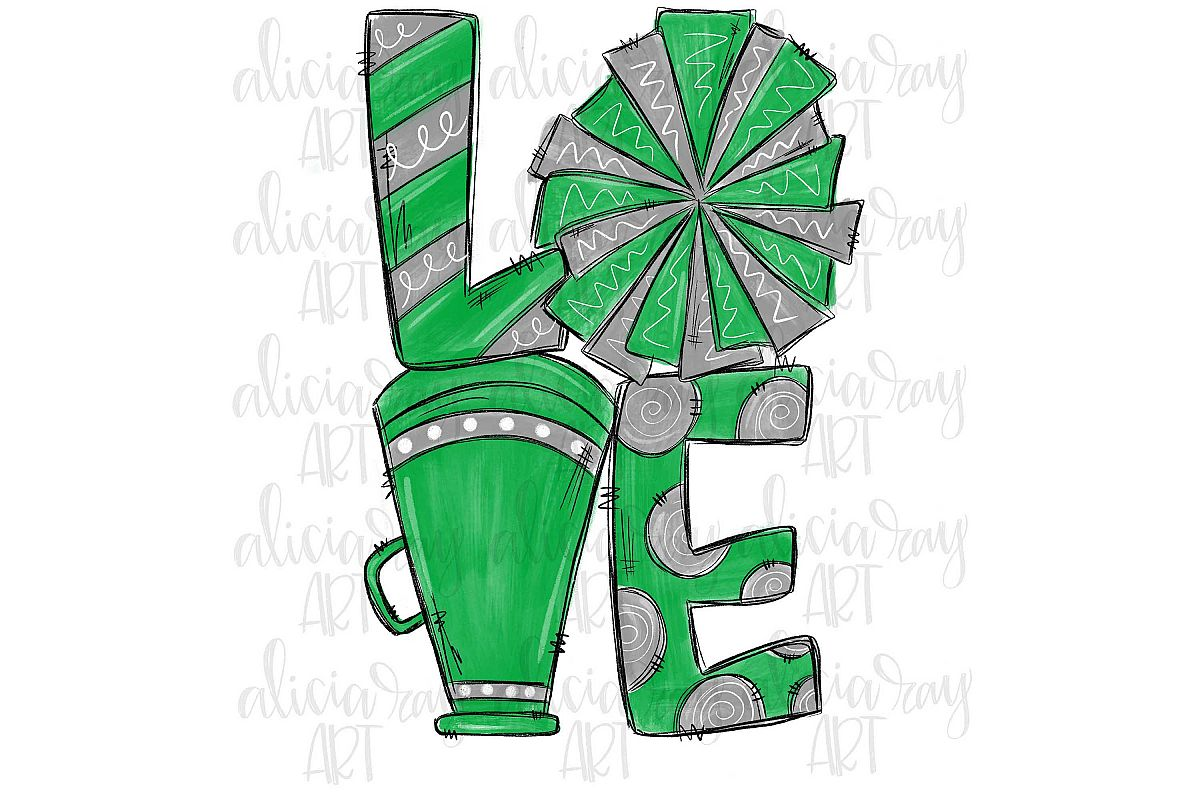 Cheer Love Green and Gray example image 1
