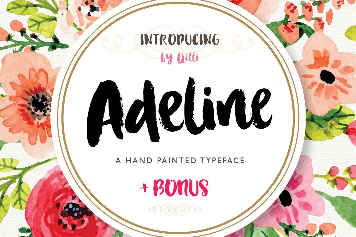 Adeline Typeface - Brush Script example image 1