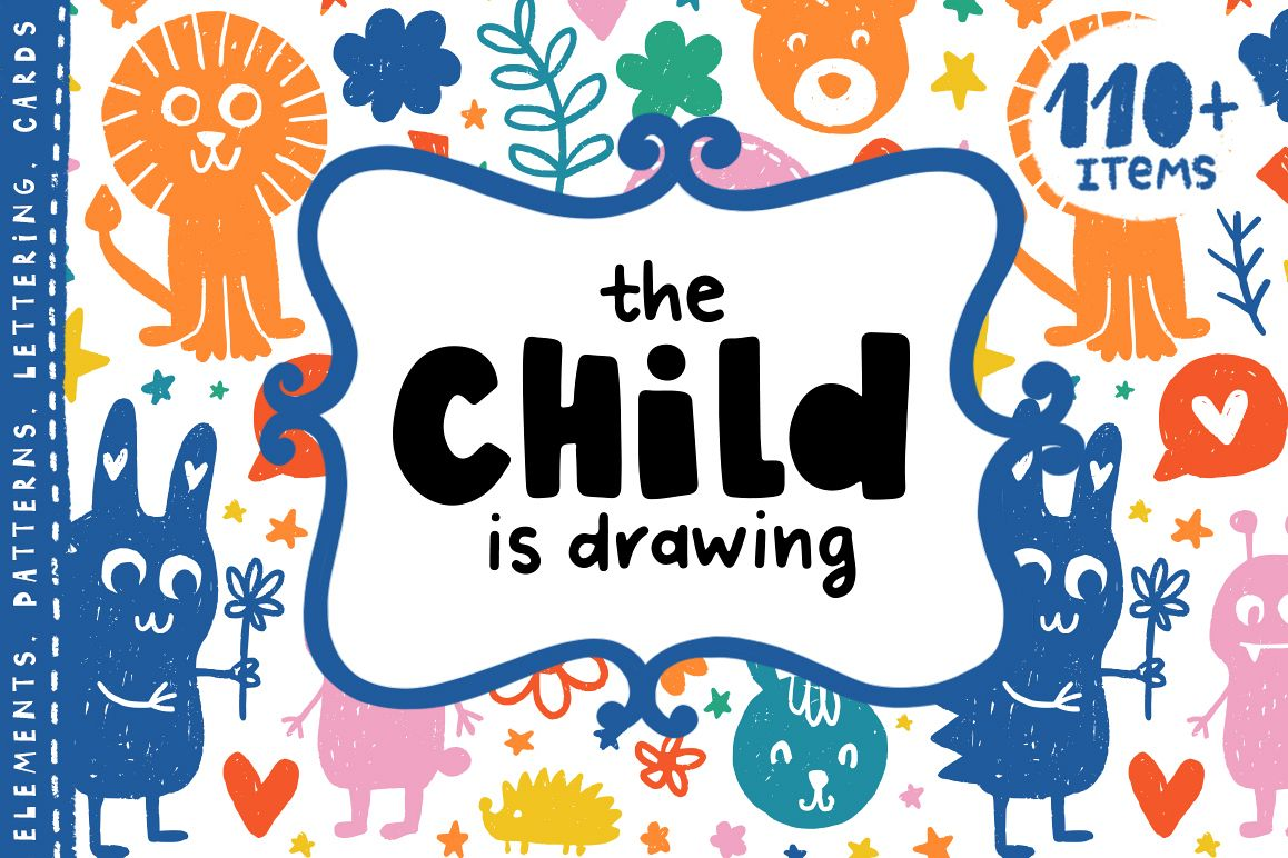The Child is Drawing - Kids Clipart example image 1