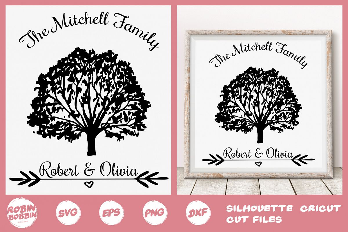 Family SVG, Newlyweds SVG, Family Tree svg, Personalized svg example image 1