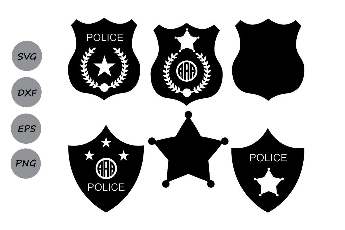 police badge svg police svg police badge monogram svg sheriff svg