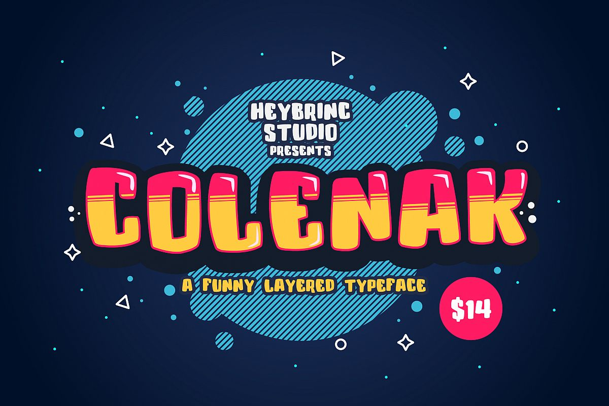 Colenak - Funny Layered Typeface example image 1