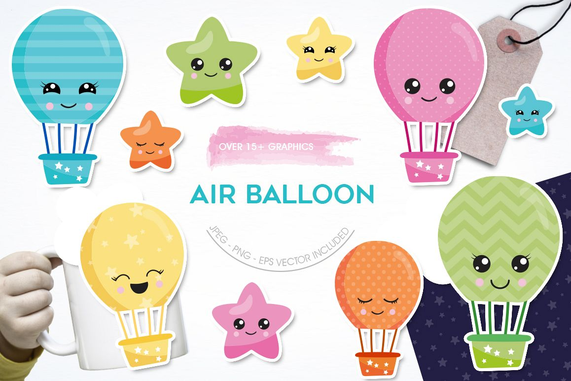Air Balloon graphic and illustrations example image 1