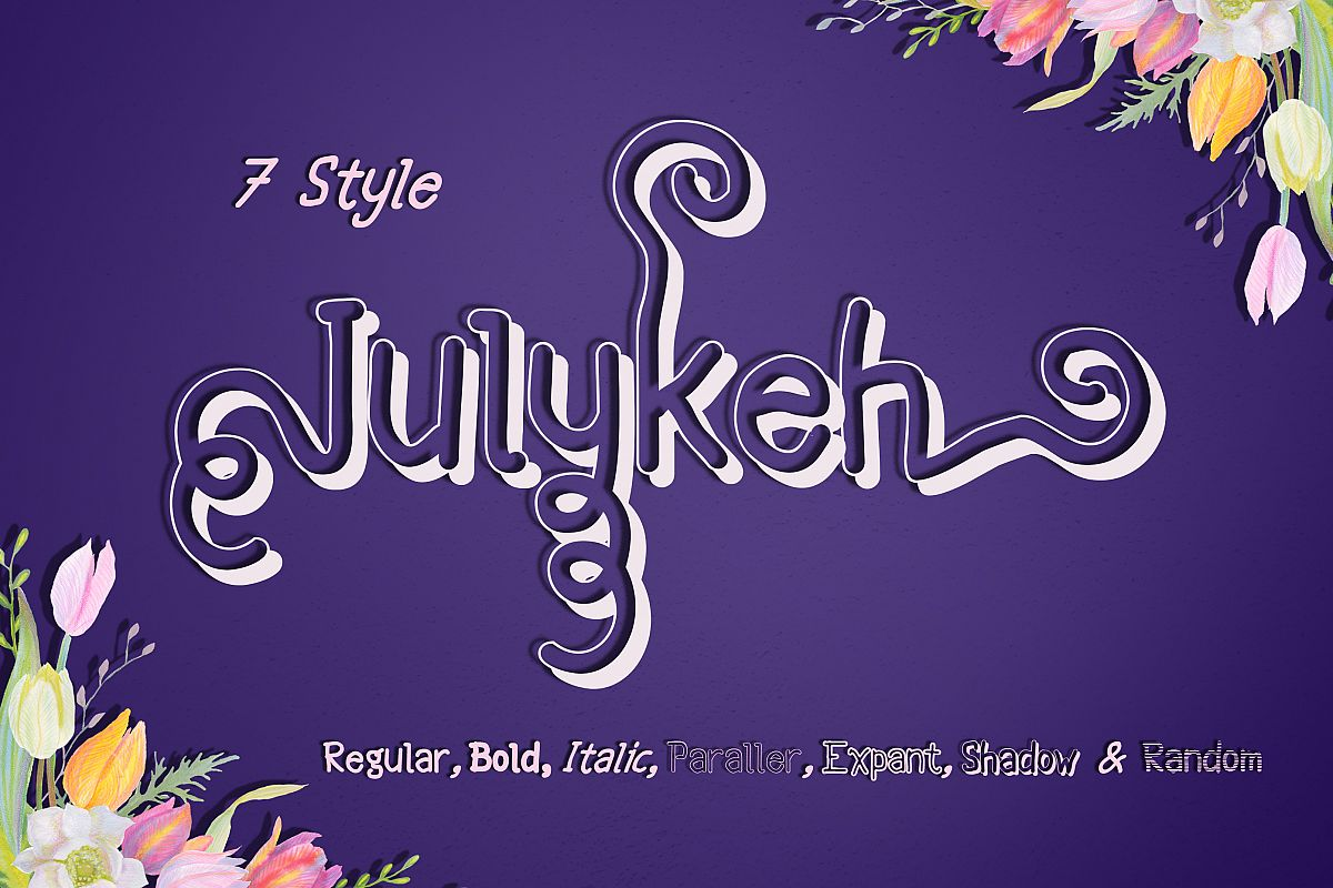 Julykeh handmade 7 Style Font example image 1