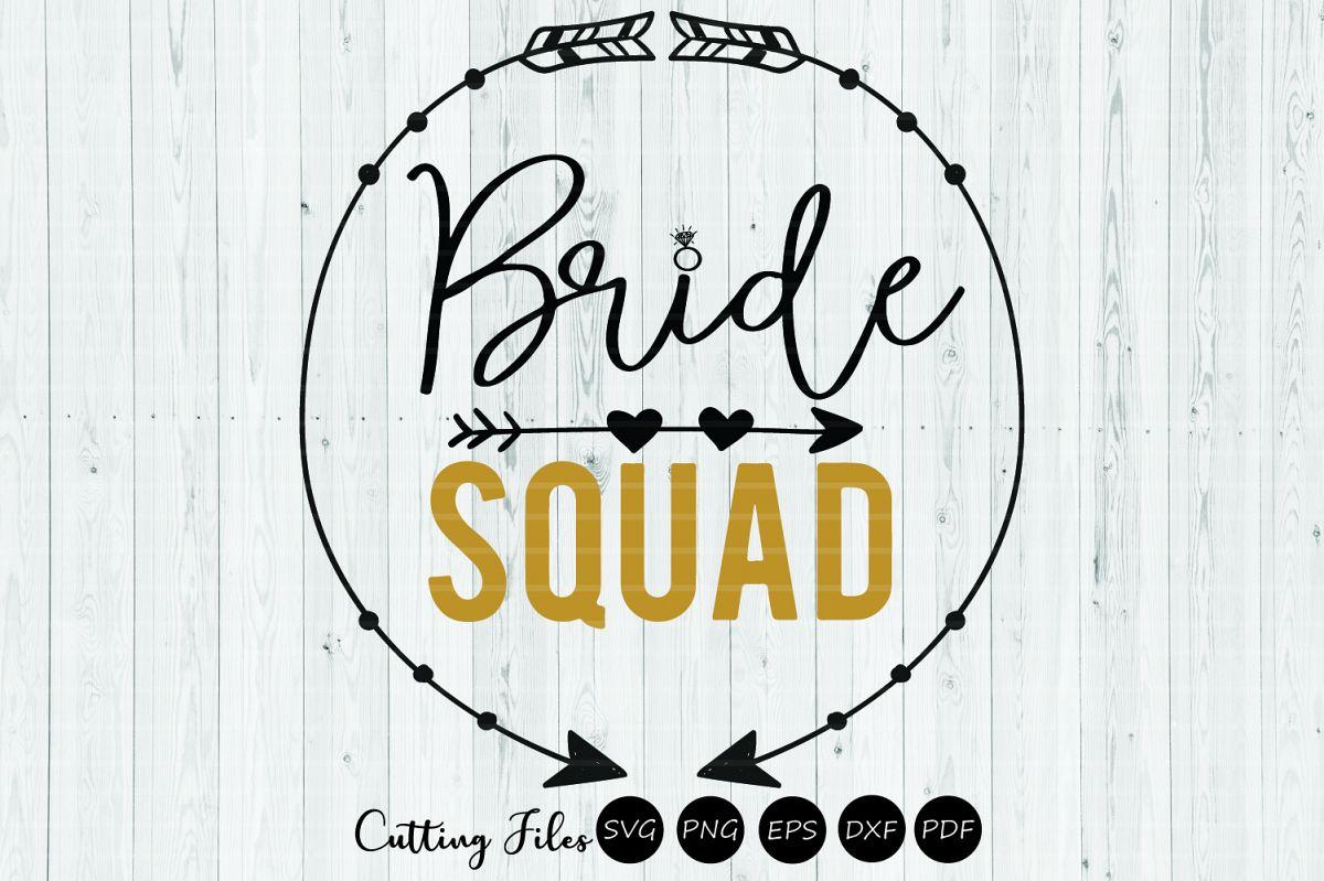 Bride Squad clipart | SVG cut file | 300 PPI example image 1