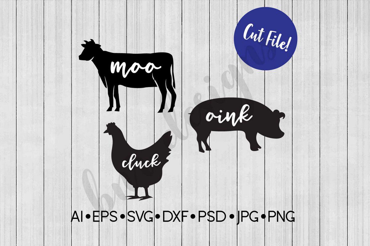 Farm SVG, Farmhouse, DXF File, Cut File example image 1