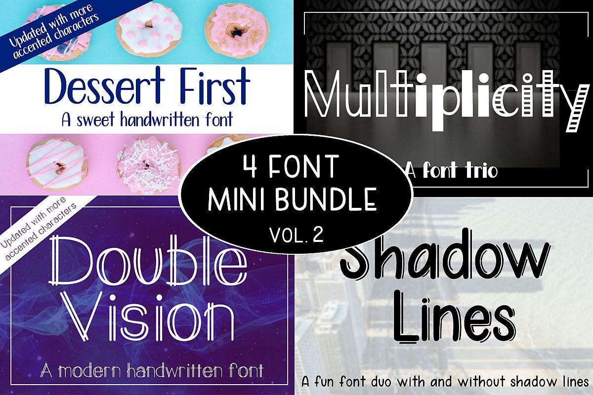 4 Font Mini Bundle - Volume 2 example image 1