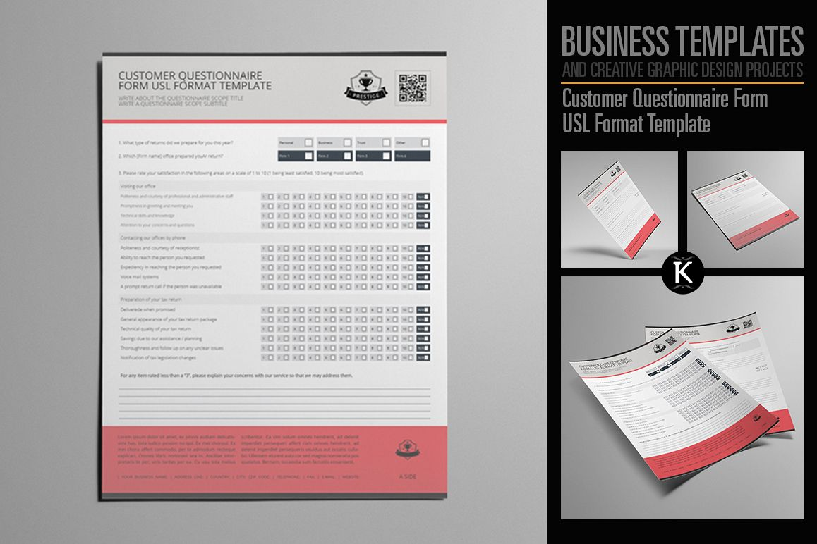 customer questionnaire form usl format template