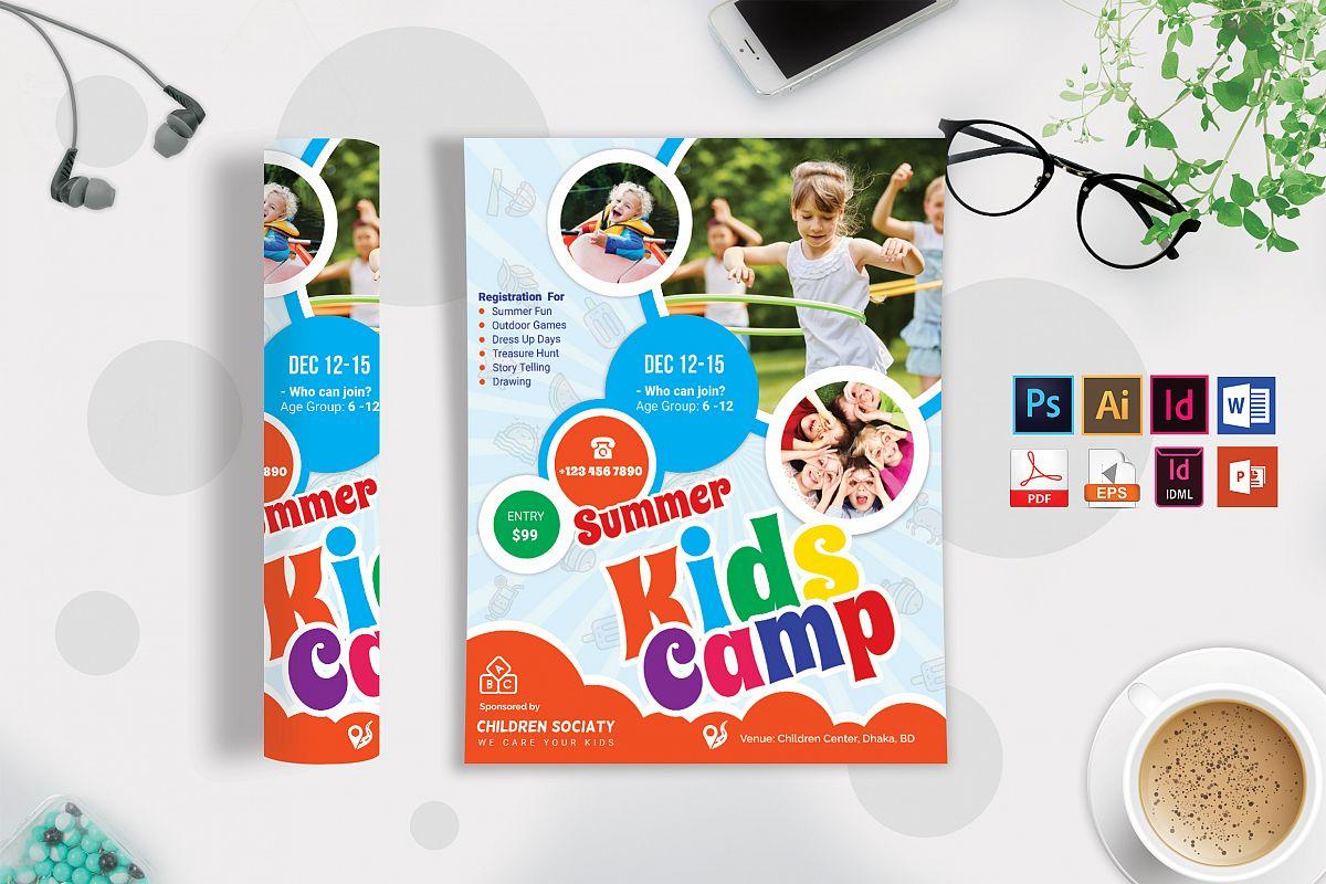 Kids Summer Camp Flyer Vol-04 example image 1