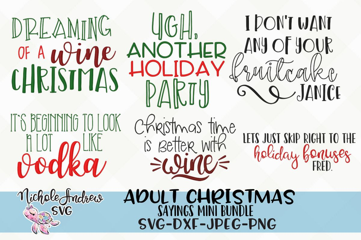 The Original Adult Christmas saying SVG bundle for crafters