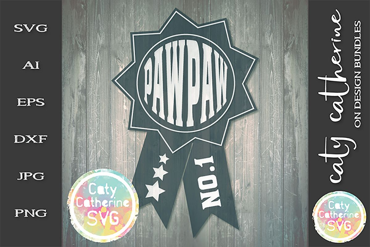 Pawpaw Father's Day Award SVG Cut File example image 1
