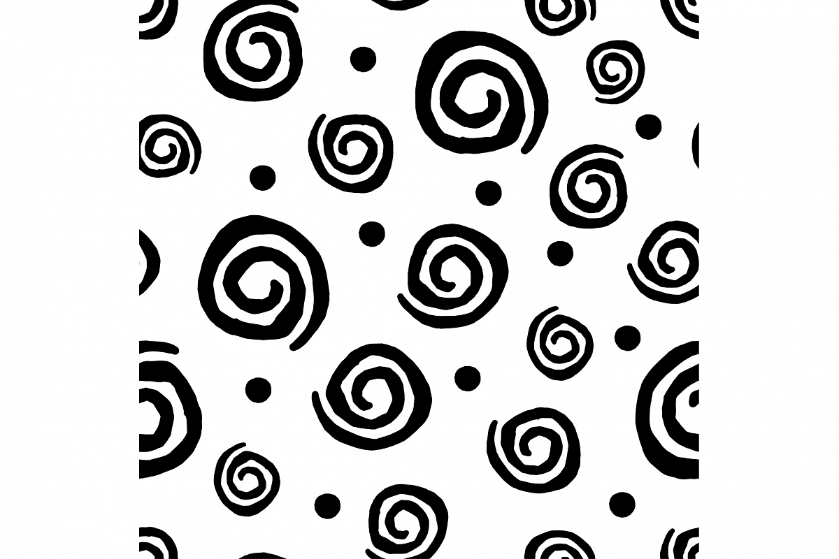 Seamless squiggles pattern.  example image 1