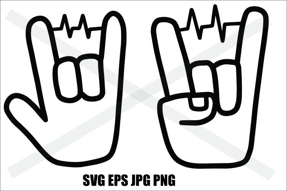 Two Hand with Beat- SVG-EPS-JPG-PNG example image 1