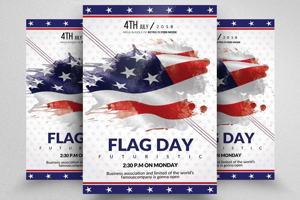 american flag day celebration flyer. Black Bedroom Furniture Sets. Home Design Ideas